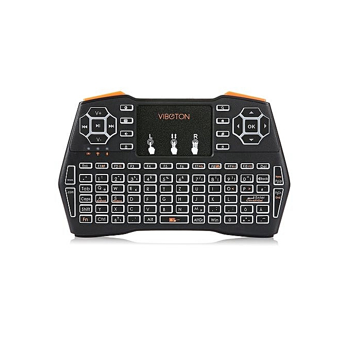 eac37a5037b ... VIBOTON i8 Plus 2.4G Wireless Keyboard Fly Air Mouse Touchpad Backlight  Version ...