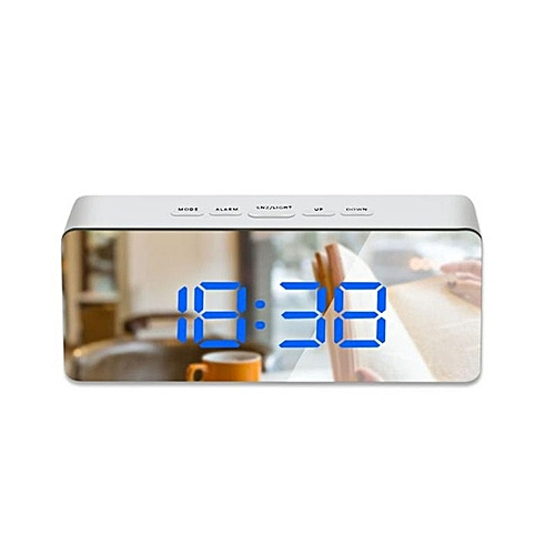 Generic Mirror Led Desk Wall Clock Digital Alarm Clocks Display