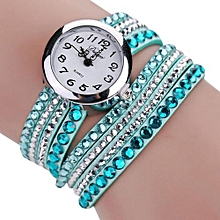 Technologg Watch  Chic Minimalist Leather Fashion Ladies Watches Rhinestone Bracelet-AS Show