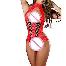 Fashion Women Sexy Bow Lace Racy  Underwear Spice Suit Temptation Underwear