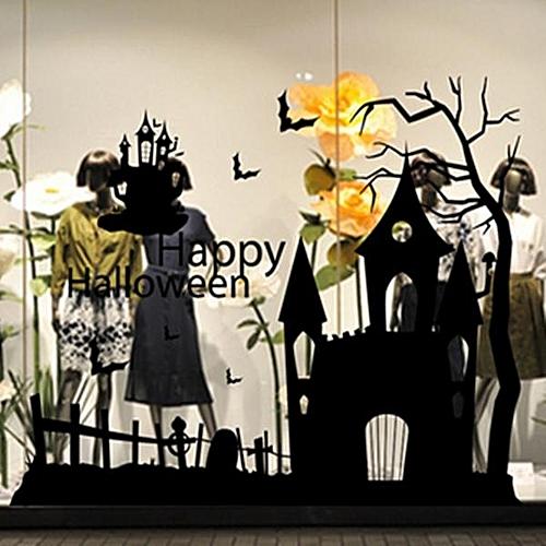 Buy Generic Creative Halloween Wall Glass Sticker PVC removable ...