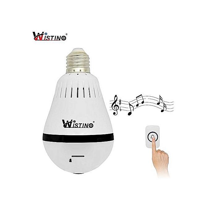 Wistino 960P Wireless IP Camera Bulb Light WiFi Doorbell Camera CCTV  Securtiy Video Baby Monitor Home VR Camera Remote Control