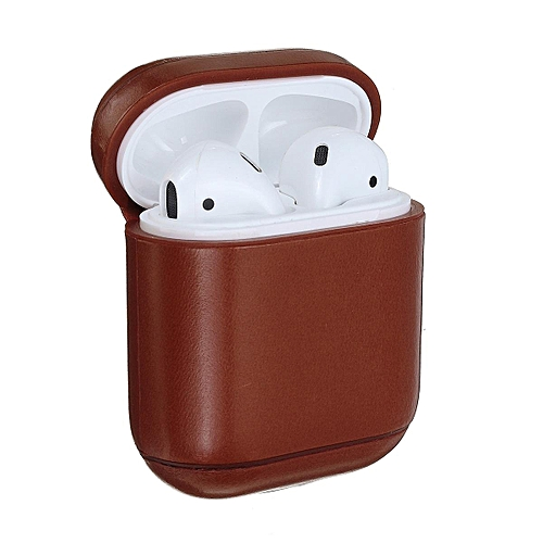 62e723b127ff Generic Genuine Leather Headset Case Protective Bag Cover Charging for  Apple AirPods   Best Price