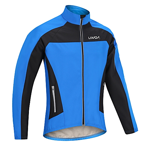 236ee580f Generic Lixada Men s Winter Cycling Jacket Windproof Thermal Fleece Long  Sleeve Riding Bicycle Bike Wind Coat