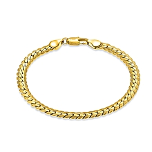 Grace 18k gold snake bones bracelet men and women new steel prints send couples gifts fashion atmosphere simple decoration-gold