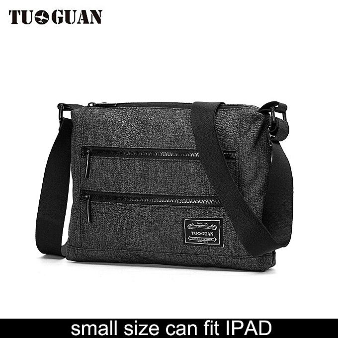 e28a8d125088 New Fashion TUGUAN Brand Designer Men Messenger Bags Korean Style Uni Women  Cross Body Women Shoulder Bags for A4 Documents(small black)