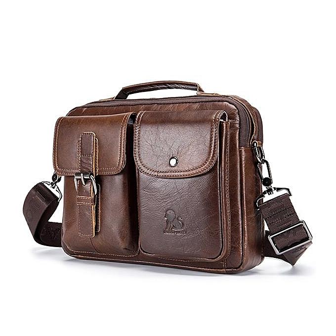 Generic Mens Leather Messenger Bag Retro Laptop Bag Business Briefcase  Shoulder Bag 0ec71d3a3a82b