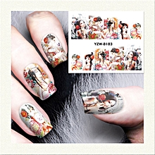 Manicure Watermark Sticker Nail Sticker Ornament Watermark Sticker