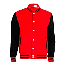 Red And Black College Jacket