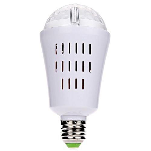 Generic E27 3w White Led Auto Rotating Bulb Party Light