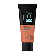 Maybelline Fit Me Matte And Poreless Foundation 30 ml - 358 Latte