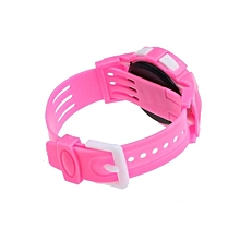 Boys Girls Students Time Electronic Digital LCD Wrist Sport Watch-Pink