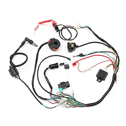 generic 281879812381 full electrics wiring harness 50cc 70cc 110cc 125cc atv  quad bike buggy gokart c