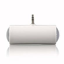 OR Stereo Mini Speaker MP3 Player Amplifier Loudspeaker For Mobile Phone 3.5mm-white