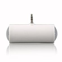 OR Stereo Mini Speaker MP3 Player Amplifier Loudspeaker For Mobile Phone 3.5mm-white