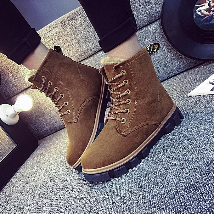 2016 New Fashion Womens Ankle Boots Fur Winter Warm Thicken Shoes Snow Boots 9f24cb858