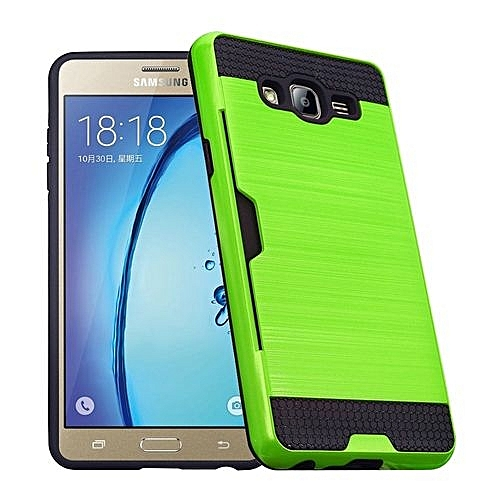 quality design 5000d f28b4 RUILEAN Case For Samsung Galaxy On5 Dual Layer TPU +PC ShockproofCard Slot  Brushed Armor Protective Cover Green