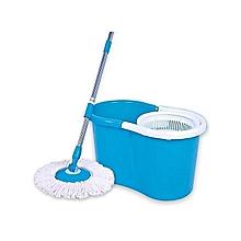 Aqua Spin Mop -360 DEGREE - Blue & White