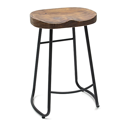 2x Vintage Tractor Bar Stool Retro Barstool Dining Chair 65cm Wood
