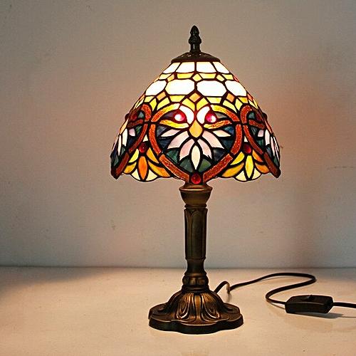 Fashion Design Turkish Mosaic Lamps E27 Base Handmade Glass Lampsahde Bedroom Bedside Vintage Table Lamp Light Fixtures Lights & Lighting Table Lamps