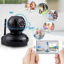 1080P HD 2.0MP WLAN H.264 Security CCTV Pan/Tile WiFi Baby Monitor IP Camera EU - Black