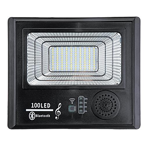 Solar 50W Music Flood Light with Remote 100 LED Bright Solar Powered PIR  Sensor Garden Wall Outdoor