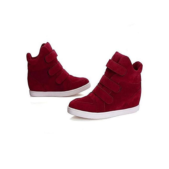 a0063e001f9 bluerdream-Women Shoes Autumn Winter Hidden Heel Flock Fashion Wedge Casual  Shoes RD 35