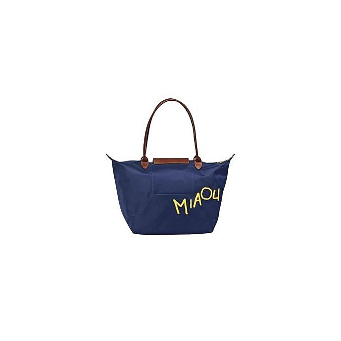 3acf62f63d9f ... Longchamp Le Pliage « Miaou » Large Tote Bag 1899576 (Navy) (Color