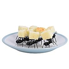 12Pcs/set Cute Eco-friendly Plastic Mini Ant Fruit Fork Home Party Decoration