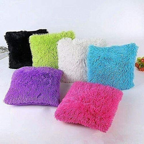 New 6pcs Fluffy Pillow Covers   Throw Pillow Covers   Cushion Covers - 18    x 18   - Assorted colours d1c34d2218