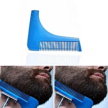 Beard Symmetry Styling & Shaping Template Comb Trimming Facial Hair-Blue