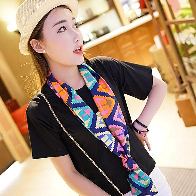 MUYI Women Chiffon Scarf Large Satin Scarf Headband Summer Style ... e4745e50b92