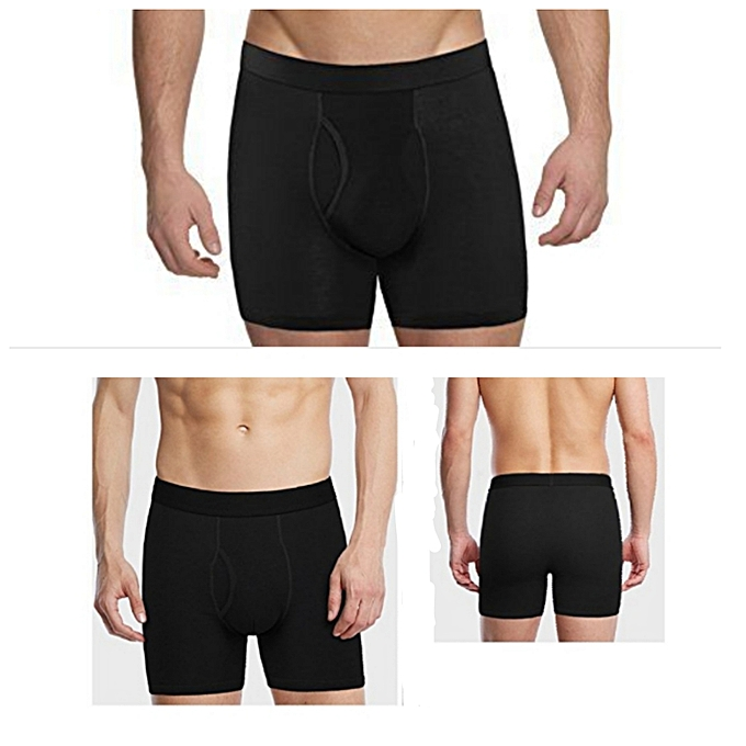 Cotton casual fitting boxers - pack of 3 - black