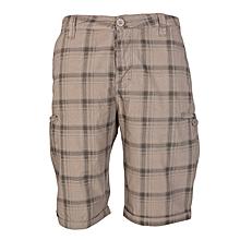 Beige Multi-Pocket Shorts