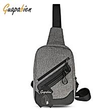 Guapabien Stylish USB Port Traveling Men Chest Shoulder Bag
