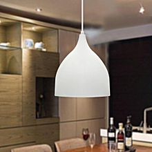 220v 17cm Modern Dome Single-Head Pendant Light Fixture Chandelier Lampshade White