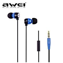 Headphone, Awei ES-Q38i High Performance Noise Isolation Earphone Clear Sound Headset(Blue)