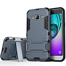 Heavy Duty Dual Layer Drop Protection Shockproof Armor Hybrid Steel Style Protective Cover Case with Self Stand for Samsung Galaxy J5 2015   XXZ-Z