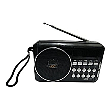 Rechargeable Digital Music Player/Fm Radio with USB and SD slot - Black
