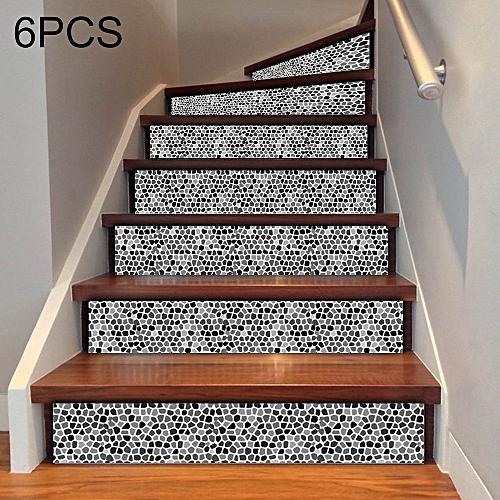 6 Pcs Diy Creative Ceramic Tile Stairs Sticker Home Decoration Size 18 100cm