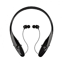 Neckband Bluetooth Wireless HBS 900 Stereo Earphones with Mic - Black
