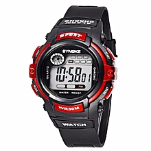 Fashion Famous Sport Digital Watches Top Brand LED Men Wrist Watch Male Electronic Clock Digital-watch(Red)