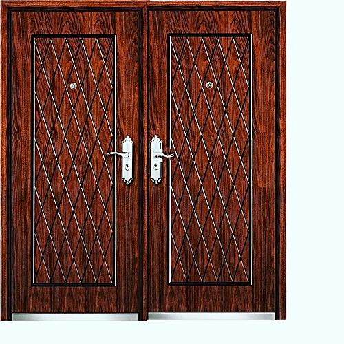 Steel Security Door 1500*2050mm Brown