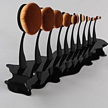 Makeup Cosmetic Organizer Display Stand For Toothbrush Foundation Brush Black