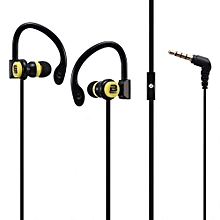 Break Series Hook-On Earphones - Black and Yellow