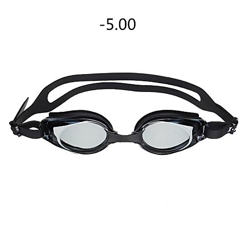 UV Prescription Nearsighted Adult Junior Kids Adjustable Swimming Goggles Box