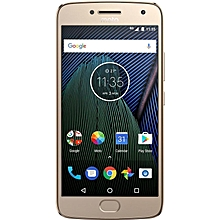 Moto G5 Plus 5.2-Inch HD (3GB, 32GB ROM) Android 7.0 Nougat 12MP + 5MP 4G Smartphone - Fine Gold