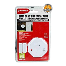 New Slim Glass Break Alarm - External Mgnetic Sensor - White