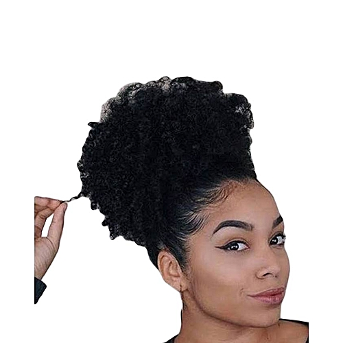 buy generic afro hair bun extension colour 1 free gift inside