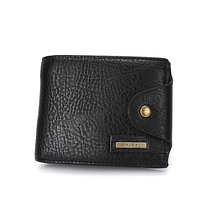 Fashion Men Business Causal Genuine Leather Coffee Black Wallet Money Bag  Card Holders e7cb61710e21c